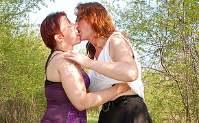 old and younger bisexuals have sex outdoor