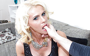 Hot blonde housewife fucking in POV style