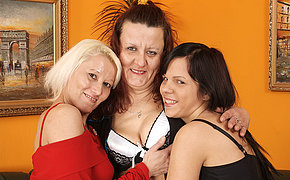 Old dykes share a wicked chick