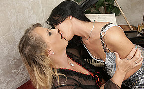 Vicious slut licking an old girlfriend