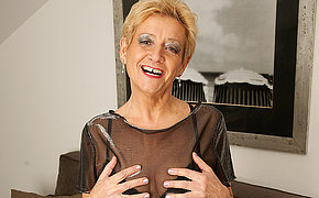 Cute granny adores to jerk off