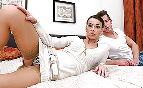 Hot mom fucking and sucking her toy boy