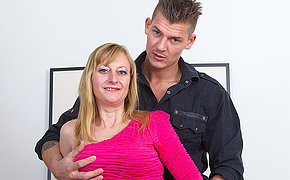 Wonderful MILF banging her sweet boy