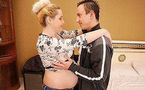 Pregnant MILF whore gets a good deep bang
