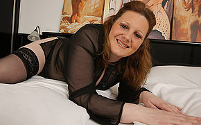 Cute MILF wife loves her large toy