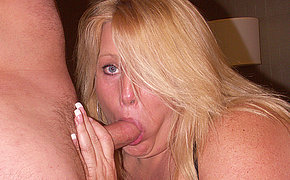 Marvellous wife has her mouth filled with cum