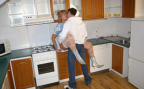 Hot wife banging in her kitchen