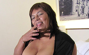 MILF chick Olga becomes juicy and hot