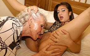 Let old chick slut lick your young puss nicely